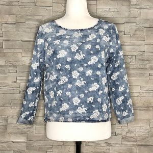 Vero Moda floral denim shirt